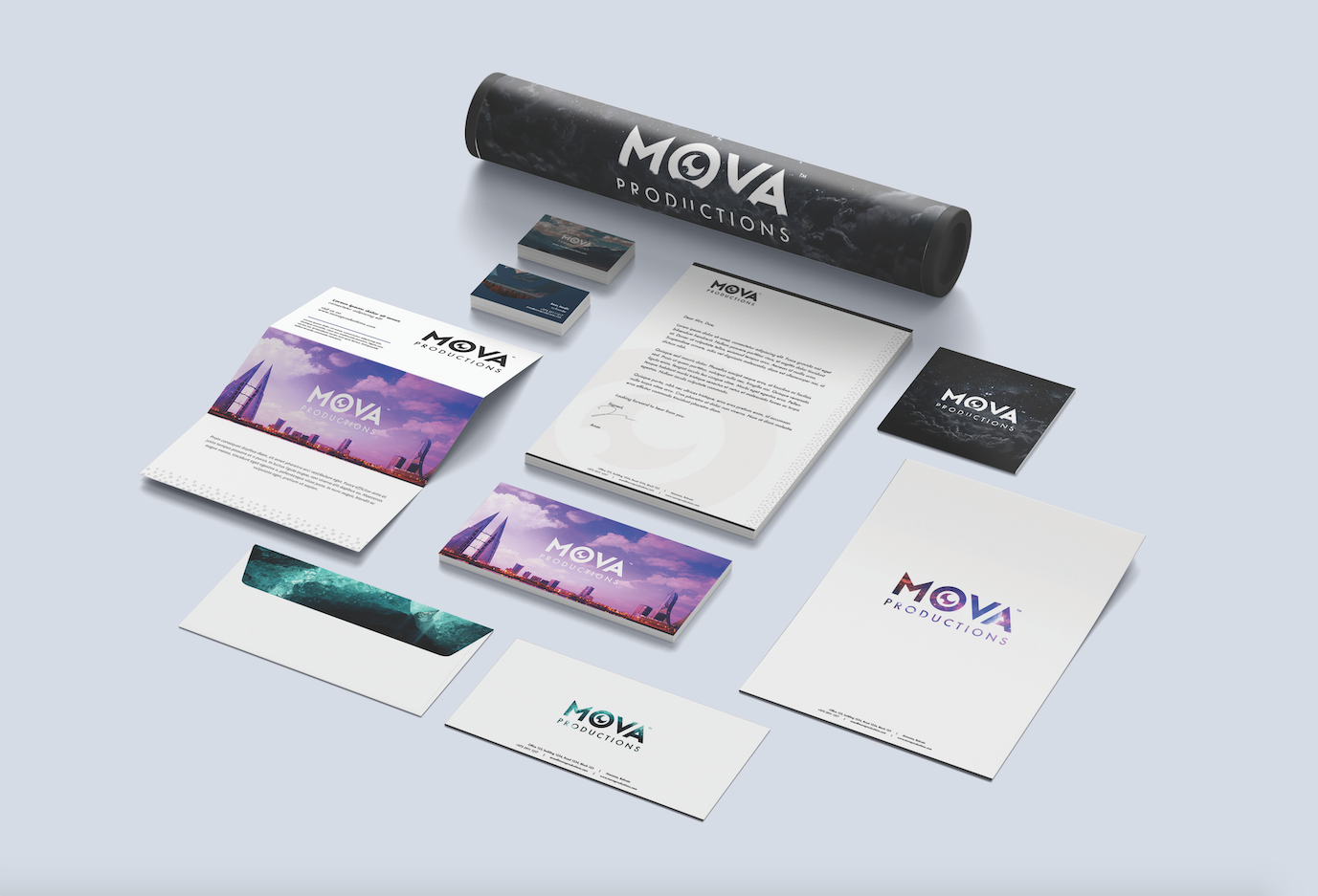 Stationery Design MOVA