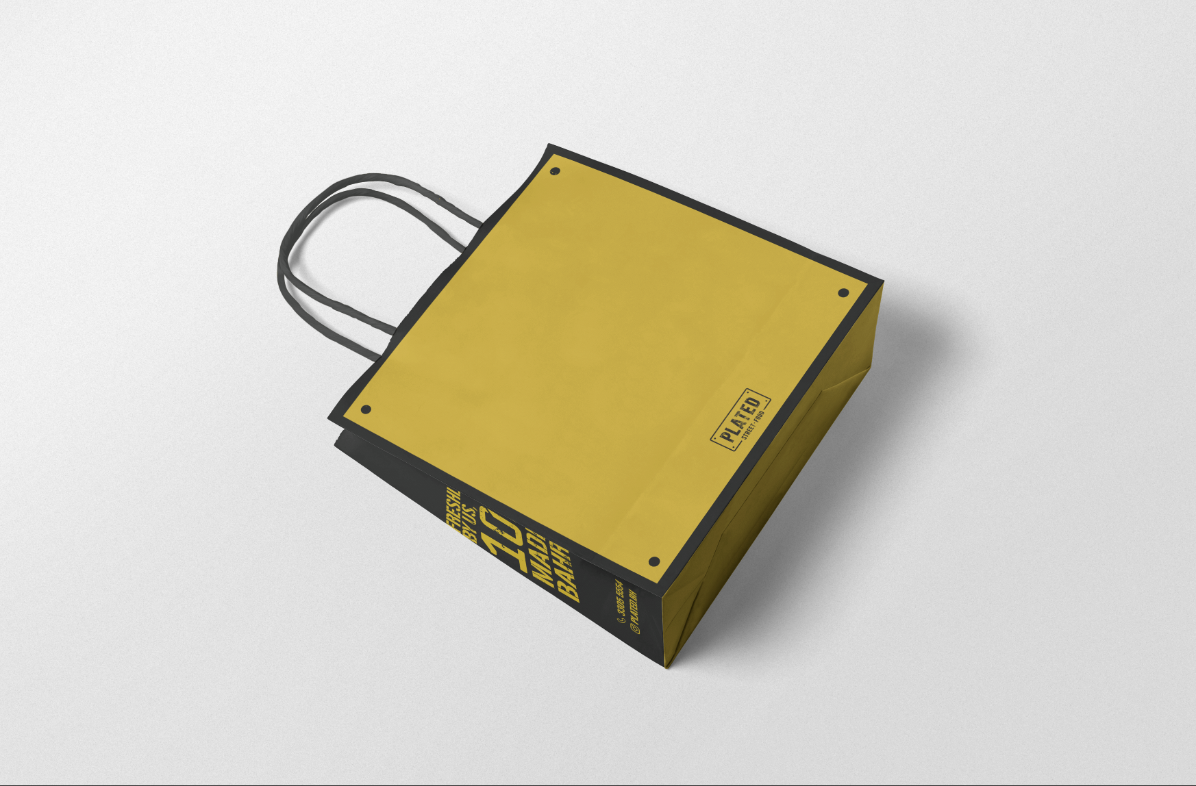 Small Paper Bag Design (Back)