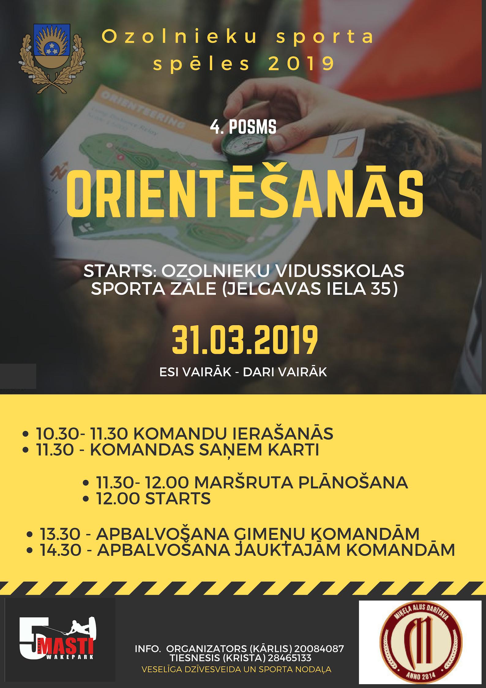 Ozolnieku Sporta spēles 2019 - Orientēšanās
