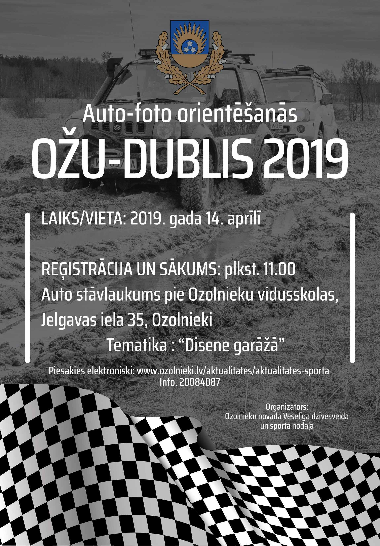 OŽU - DUBLIS 2019