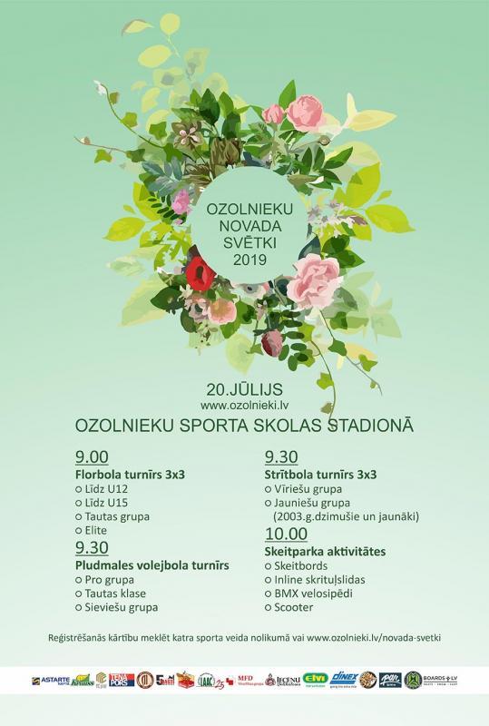 Sportiskās aktivitātes Ozolnieku novada svētku ietvaros 20. jūlijā