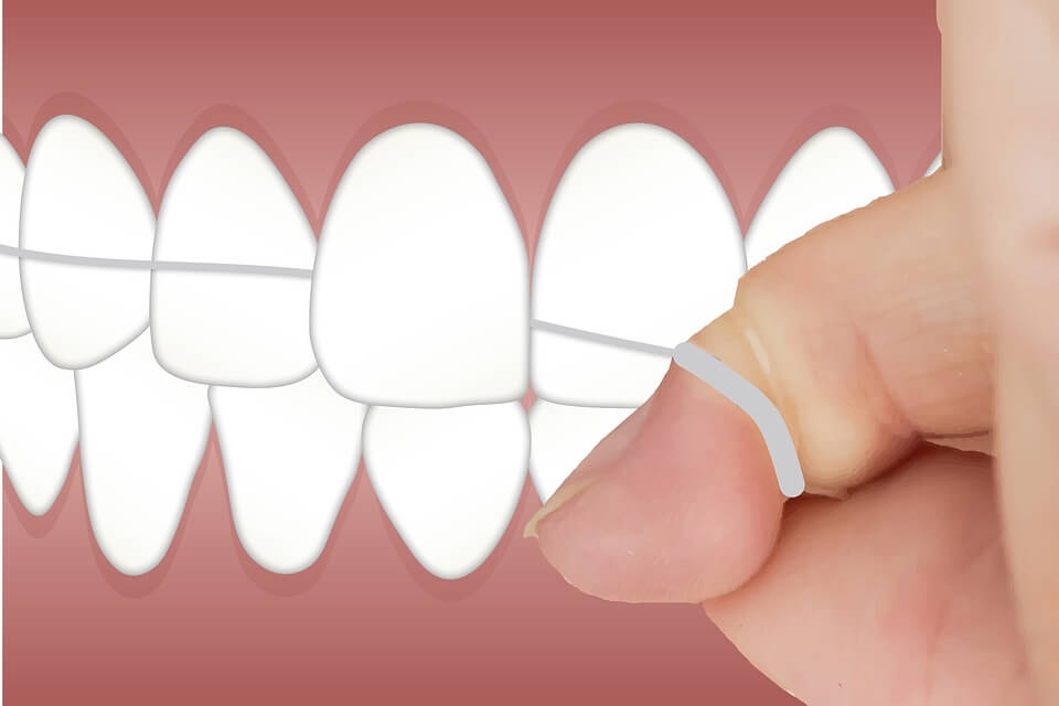 teeth flossing