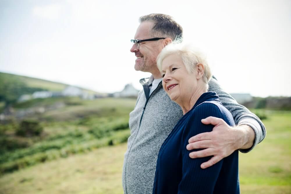 older couple, crowns and bridges