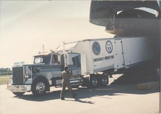 ARL Semi Unloading From Plane