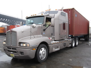 ARL Beige Semi Truck with Container