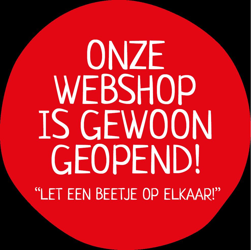 Onze webshop is open
