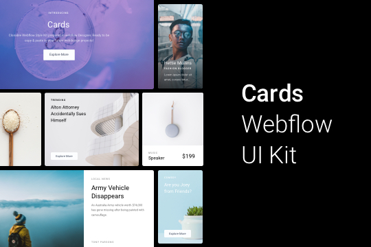 Cards Webflow Kit