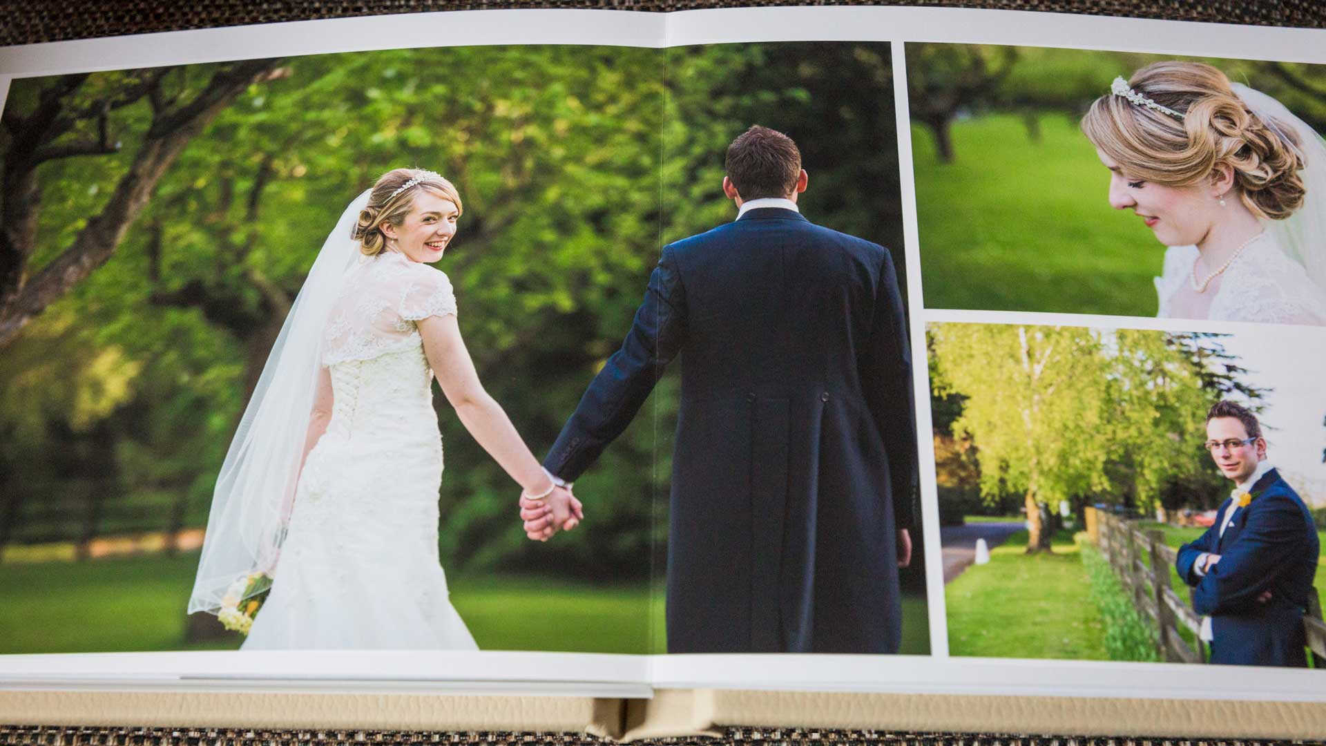Quality wedding photo albums from Martin Hemsley Photography - a delight for years to come
