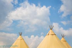 Alcott Farm Wedding - Tipi Set Up