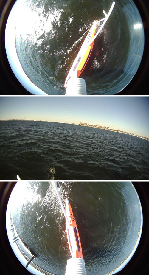 saildrone selfie leaving newport harbor