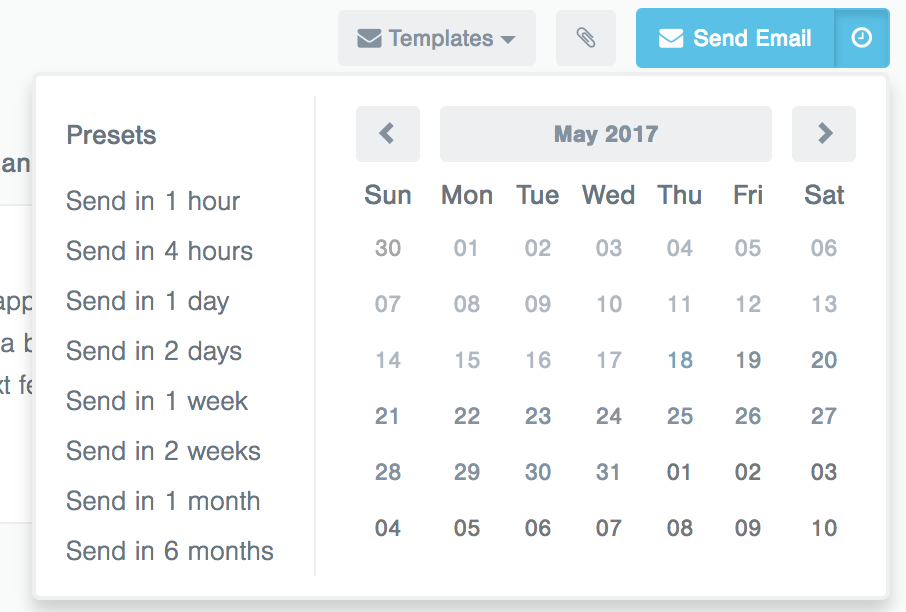 breezy schedule candidate messages