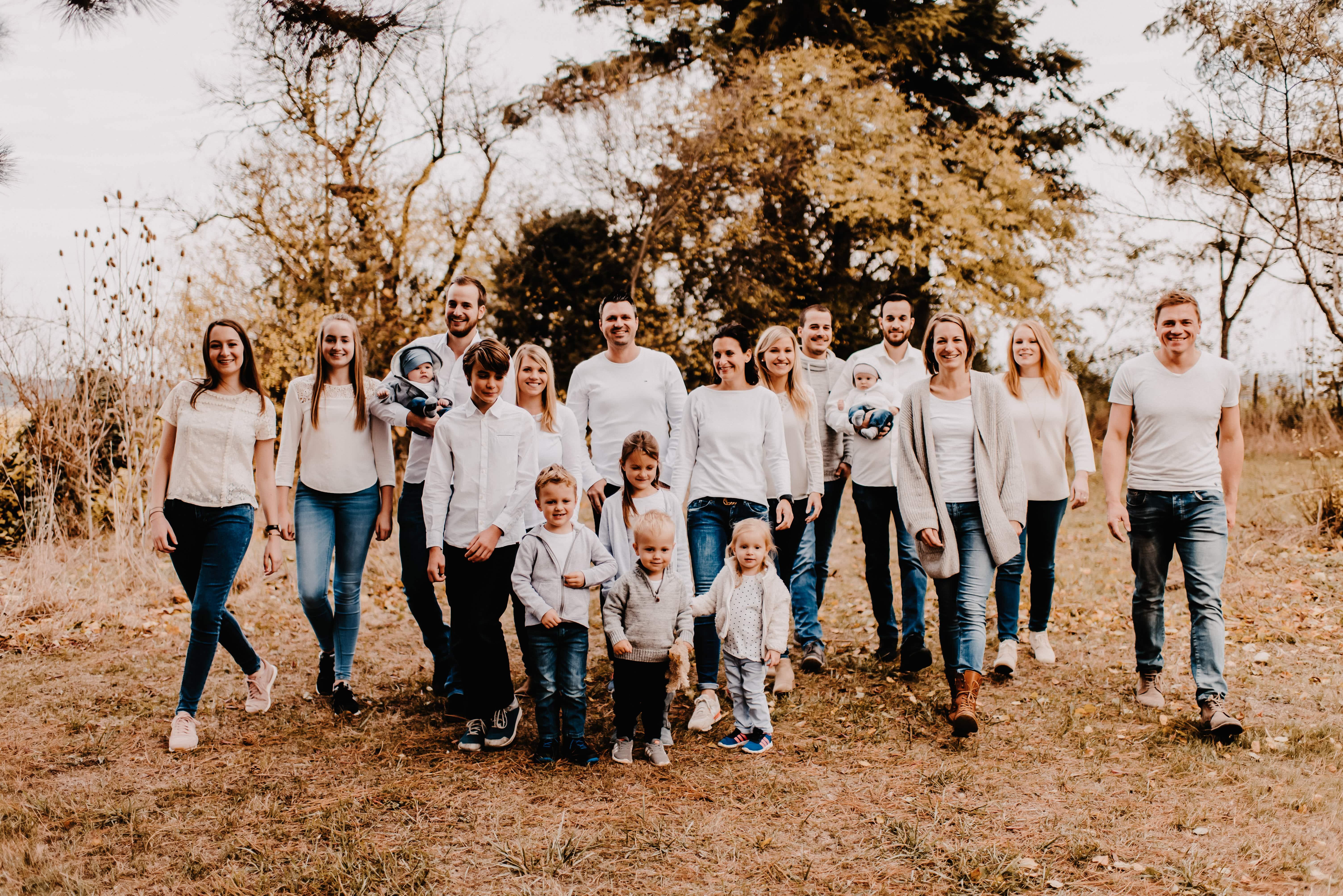 Großfamilie Fotoshooting