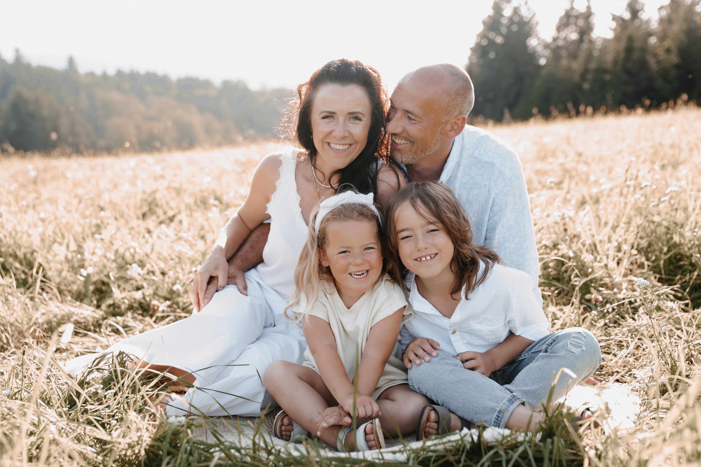 Familienshooting im Feld