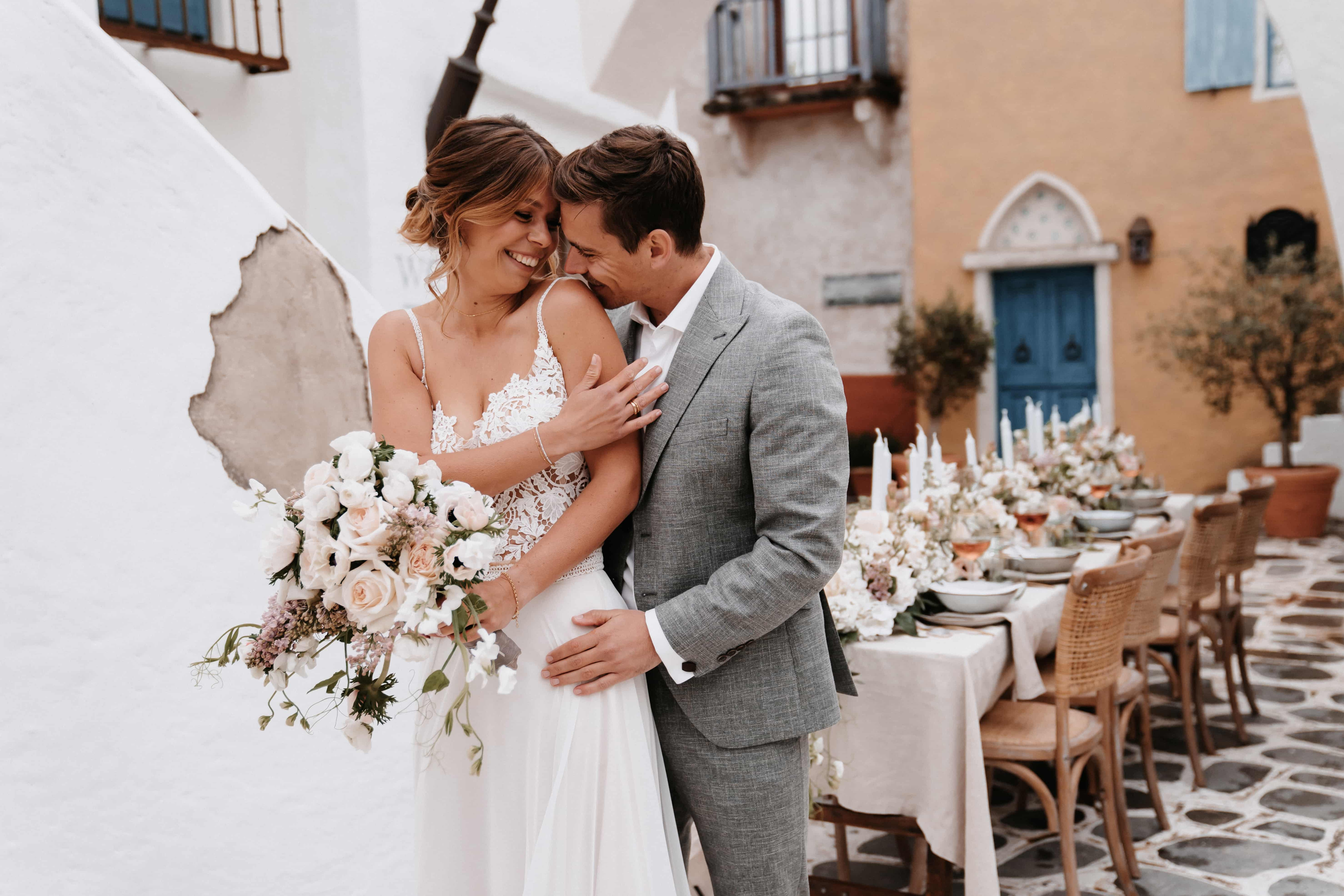 Boho-Hochzeit im Freien