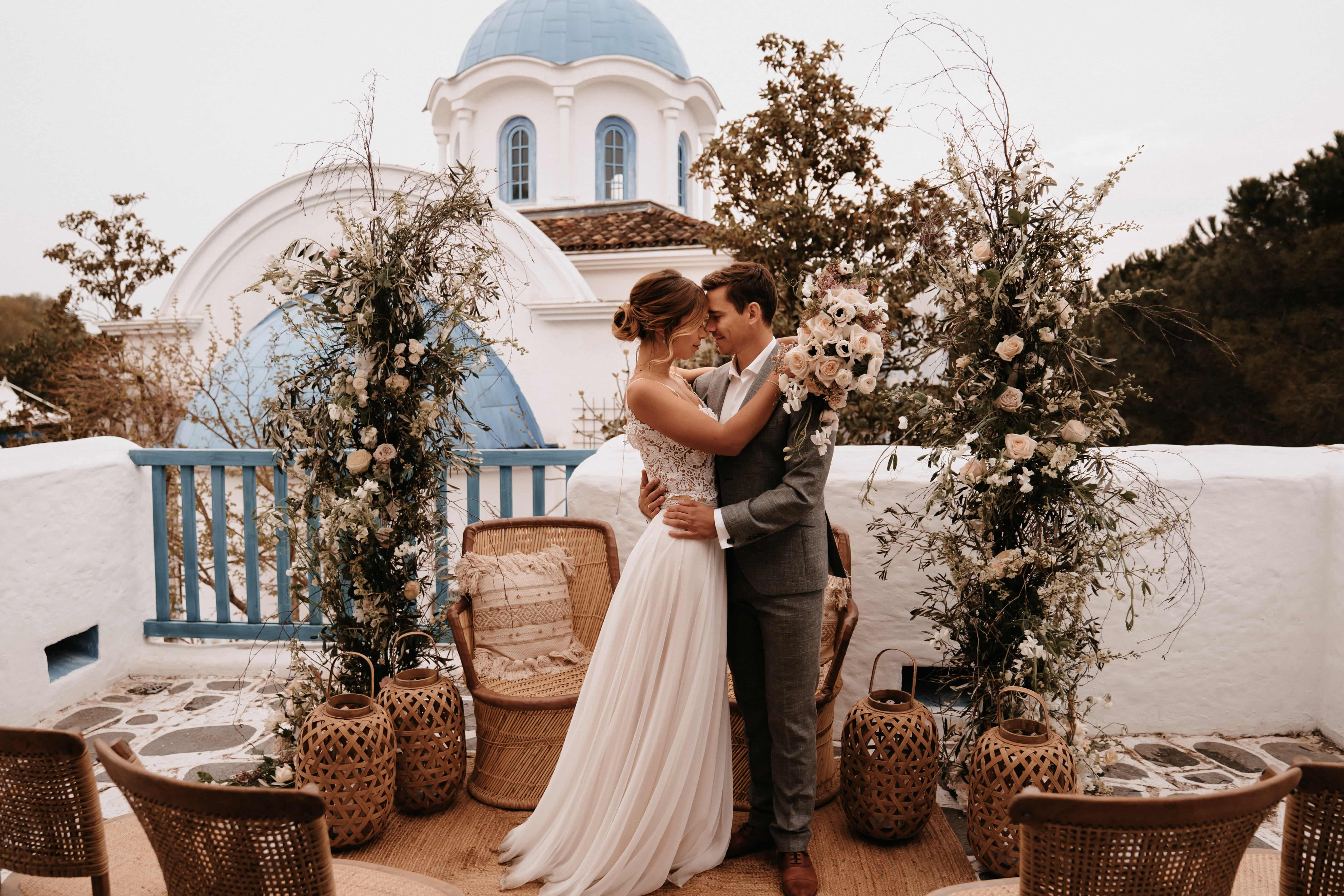 Boho-Hochzeit in Griechenland
