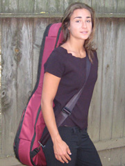 Softshell case - right view single strap carry