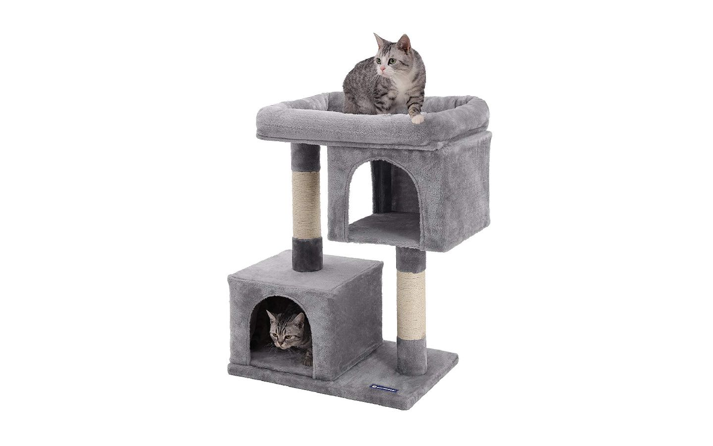 Songmics Cat Tree with Sisal-Covered Scratching Posts