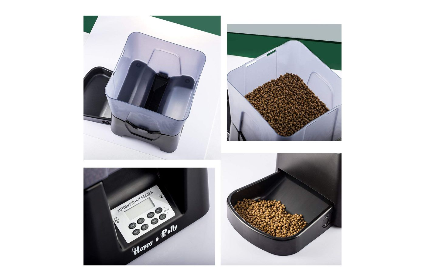 Happy and Polly Electronic Dry Food Automatic Cat feeder