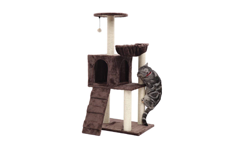 """PGFUN 46"""" Cat Tree Cat Scratching Post Cat Furniture"""