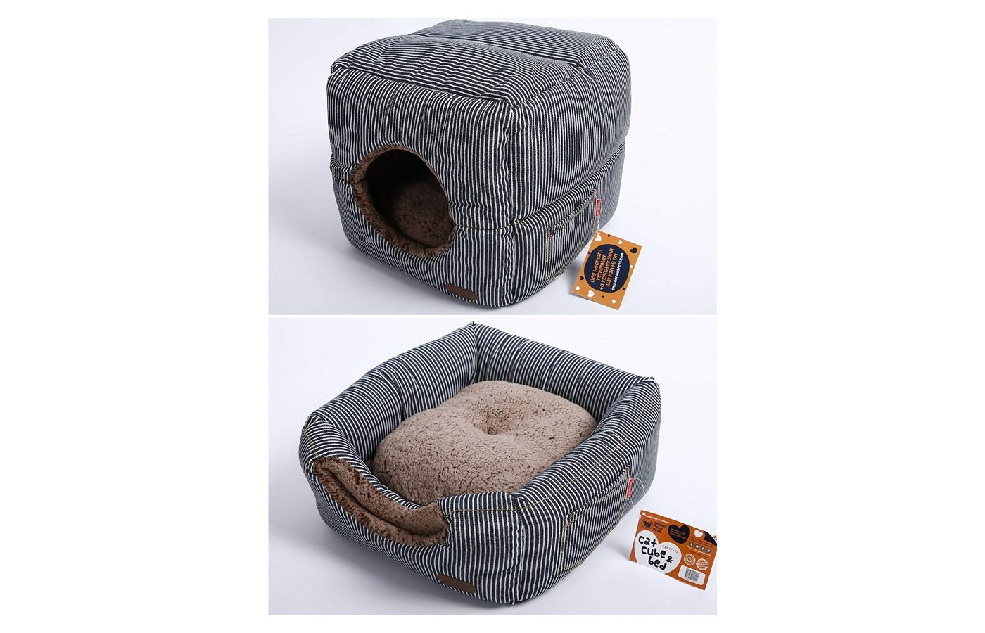Smiling Paws Pets 2 in 1 Cat Bed and Cube