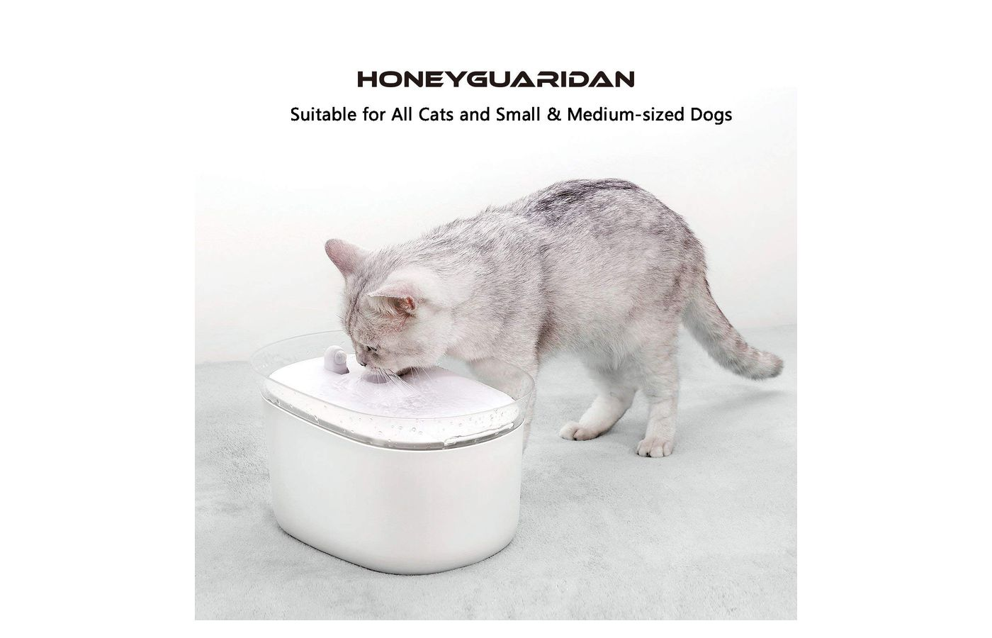 HoneyGuaridan Smart Automatic Pet Water Fountain Dispenser