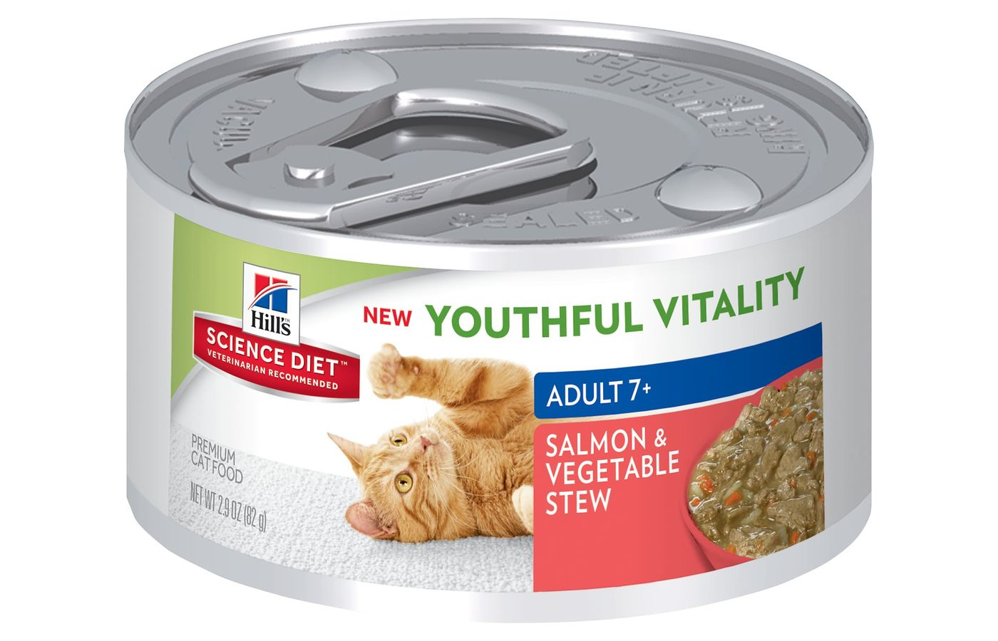 Hill's Science Diet Adult 7+ Youthful Vitality Salmon & Vegetable Stew Canned Cat Food