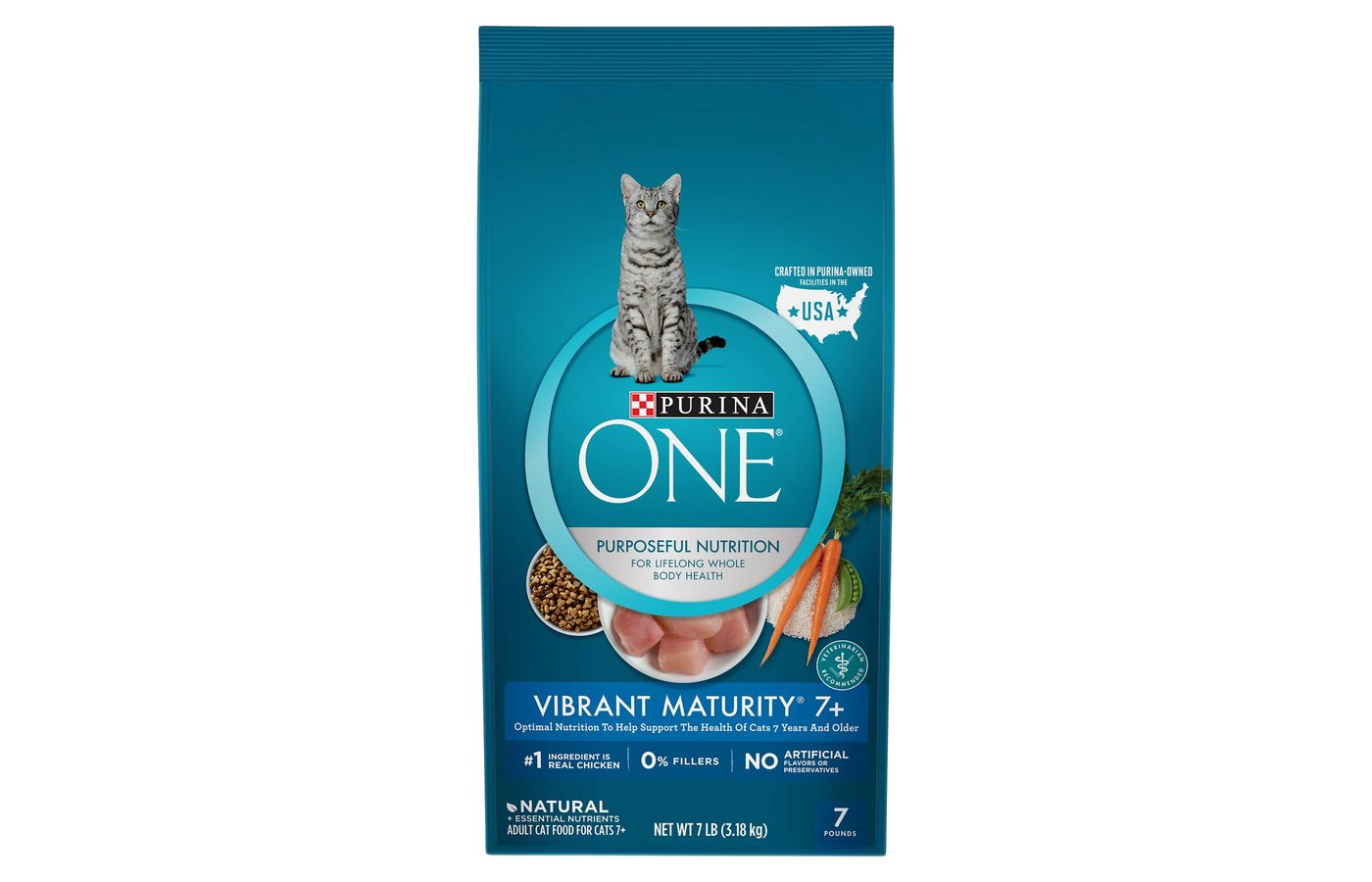 Purina One Vibrant Maturity 7+ Adult Premium Dry Cat Food