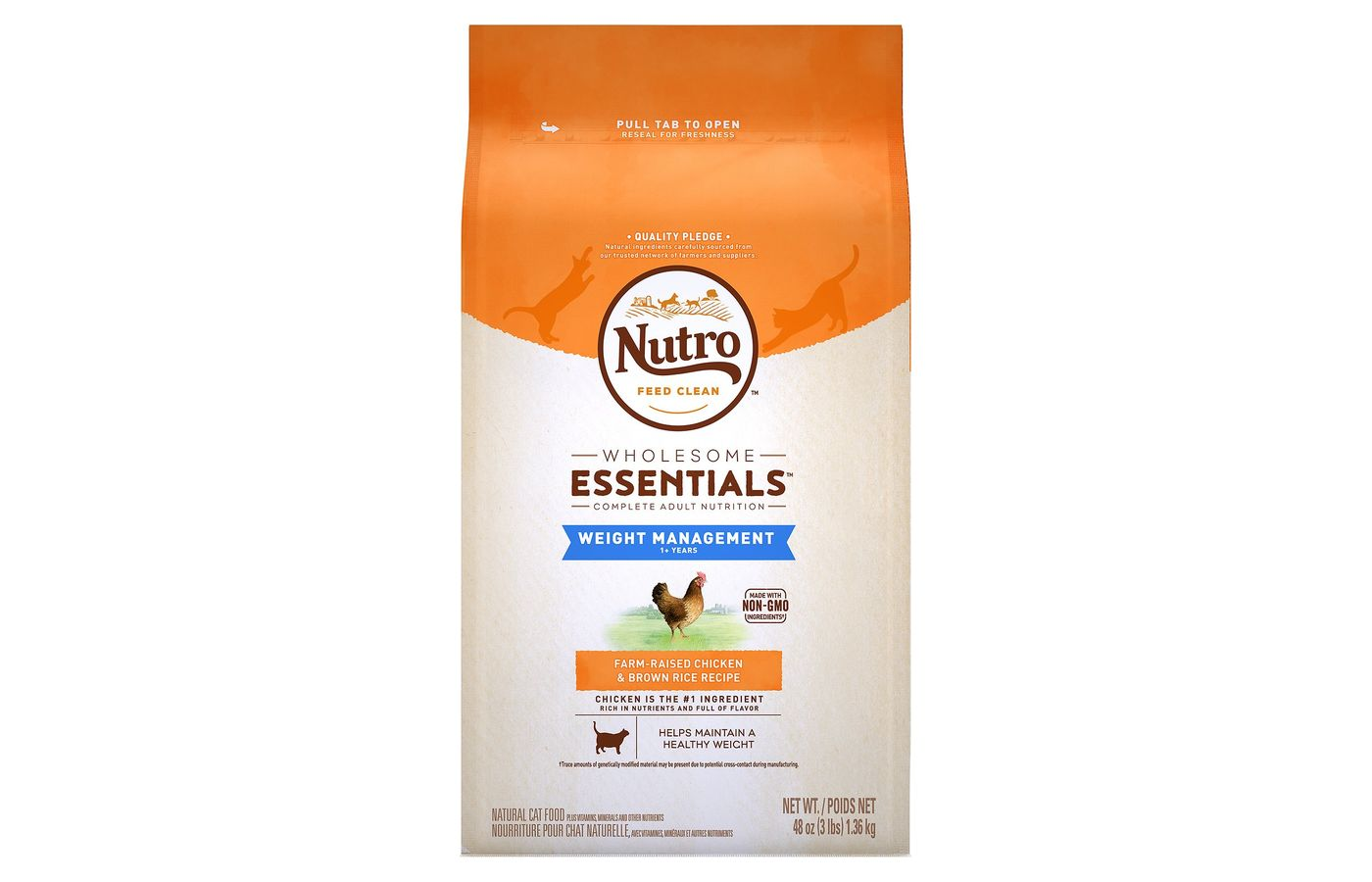 Nutro Wholesome Essentials Weight Management Adult Dry Cat Food