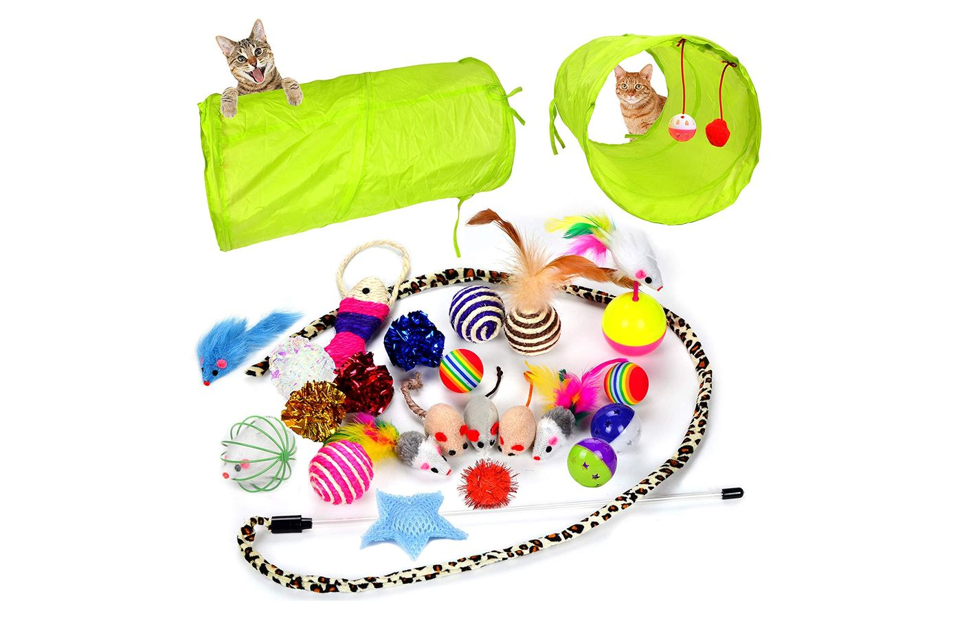 Youngever 24 Cat toys Kitten Toys Assortments