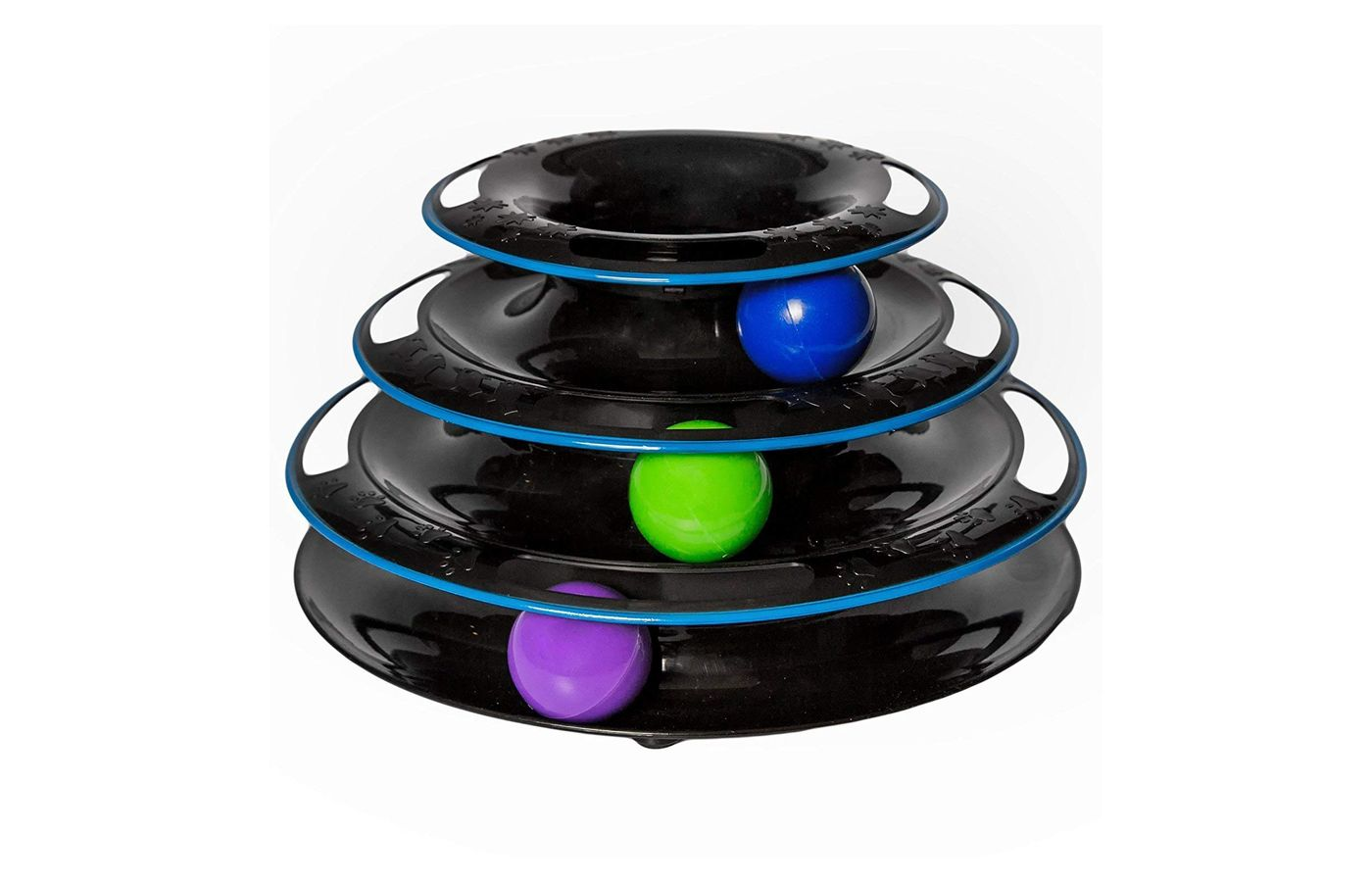 Easyology Amazing Roller Cat Toy: Cat Toys Interactive Fun with 3-Level Power Ball & Track
