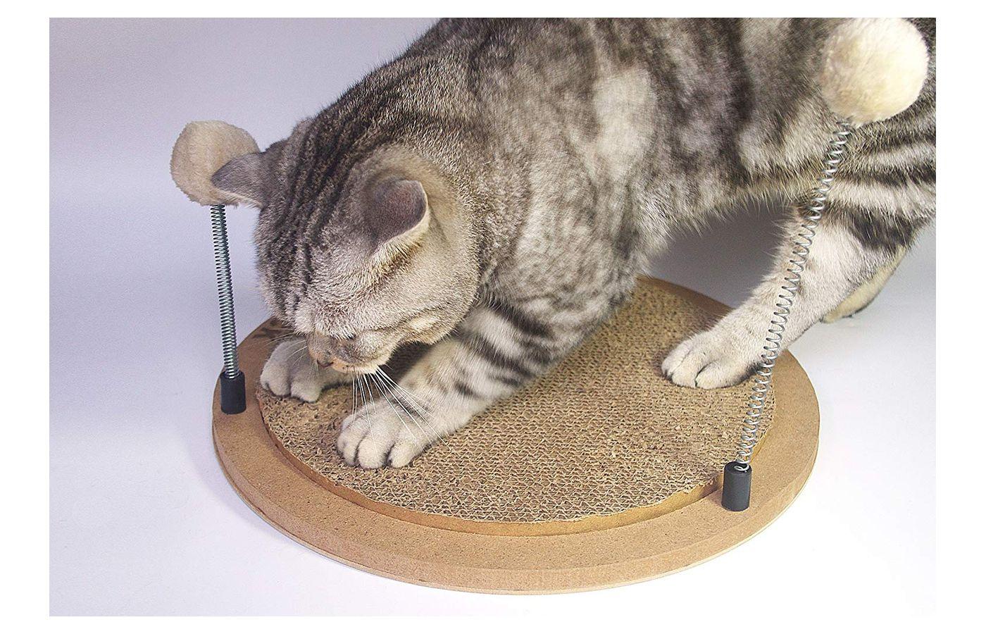 YOOGAO Pet Cat Scratcher/Cat Scratcher Cardboard Spring Cat Toys