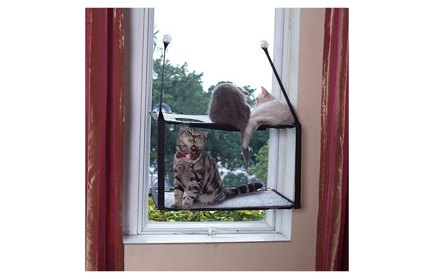L.S 2018 Cat Perch Hammock Window Cat Bed