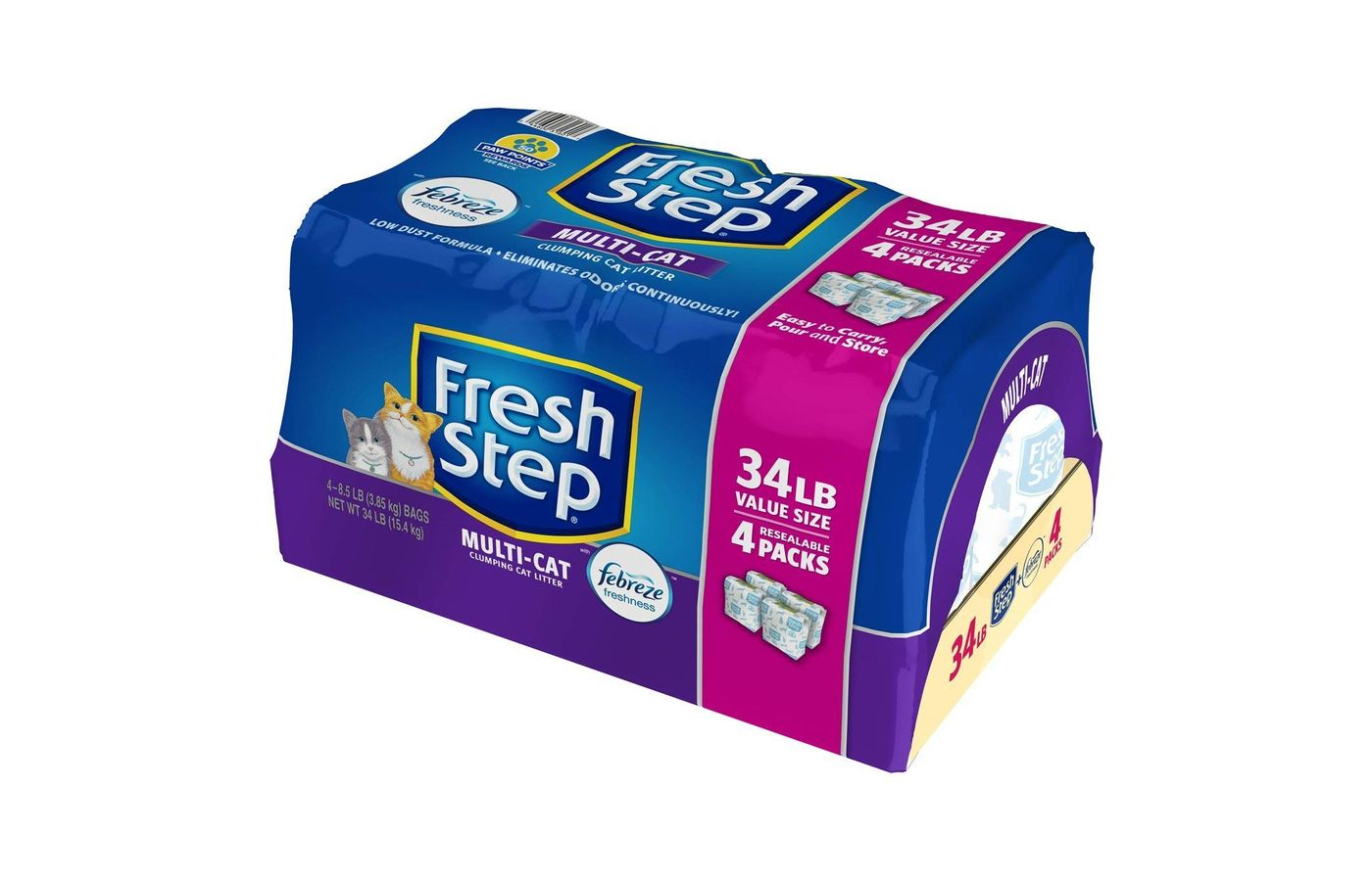 Fresh Step Multi-Cat Scoopable Clumping Litter