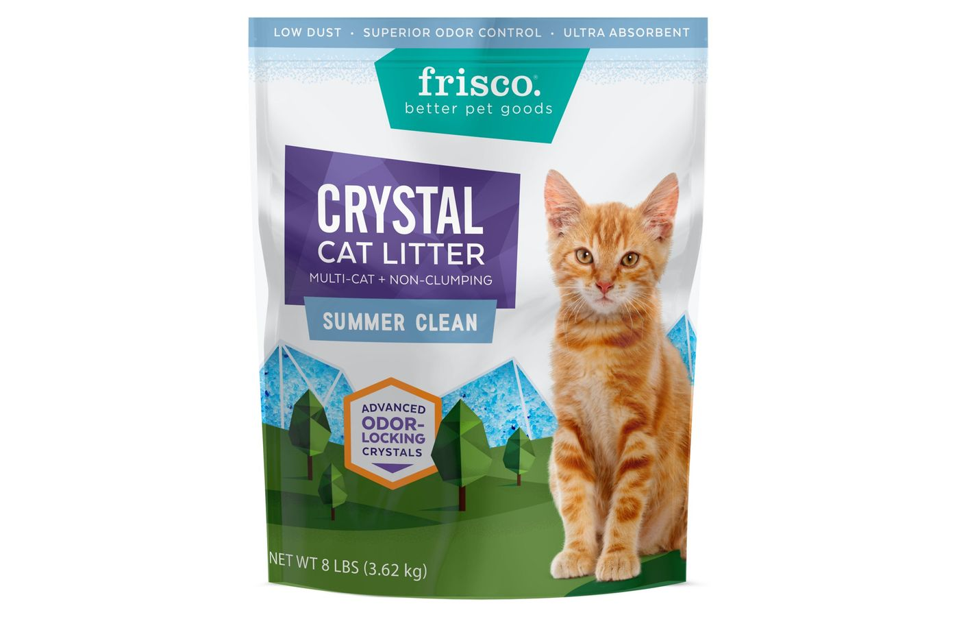 Frisco Crystal Summer Clean Scent Non-Clumping Litter