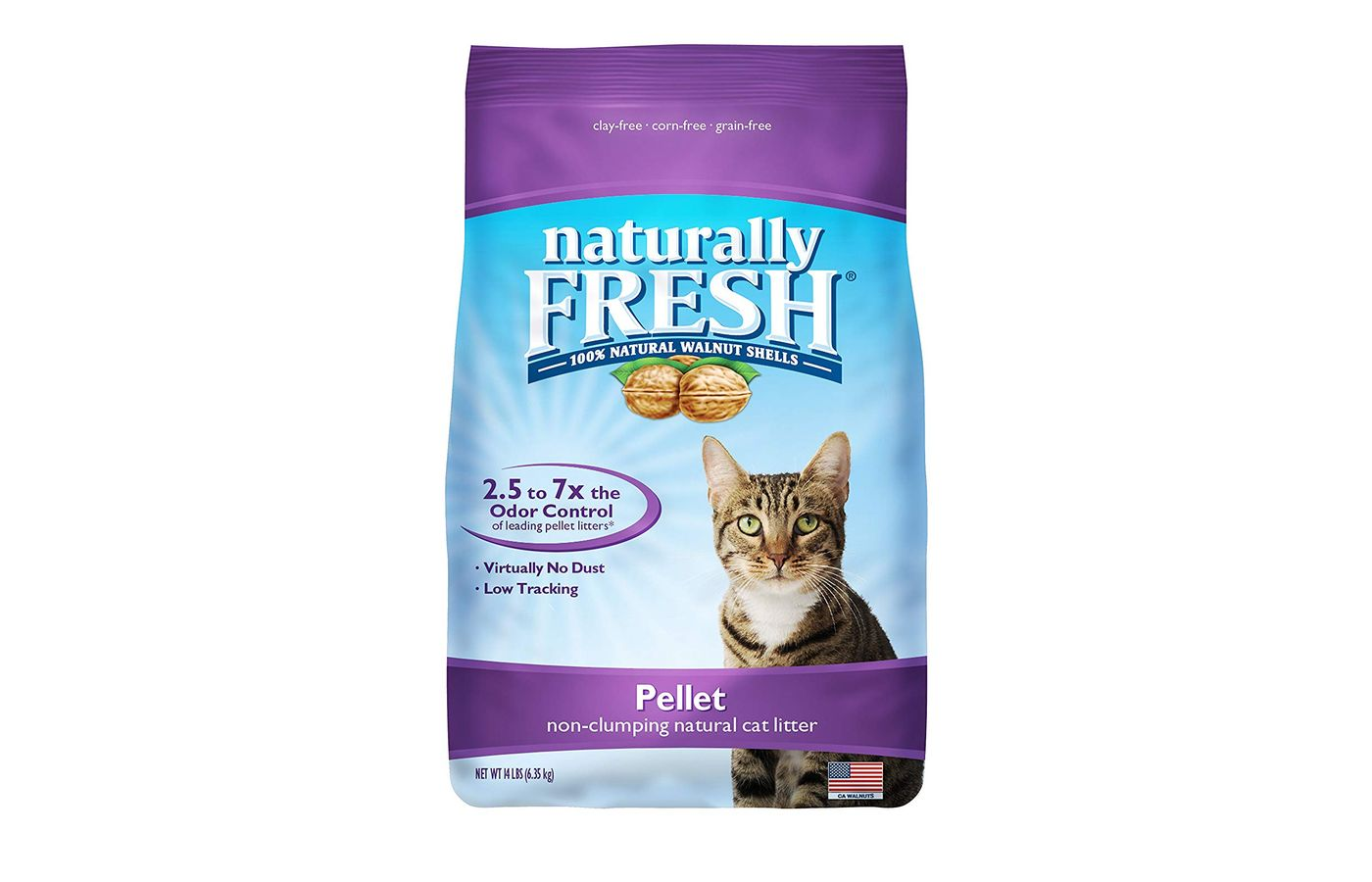 Naturally Fresh Walnut-Based Pellet Non-Clumping Cat Litter