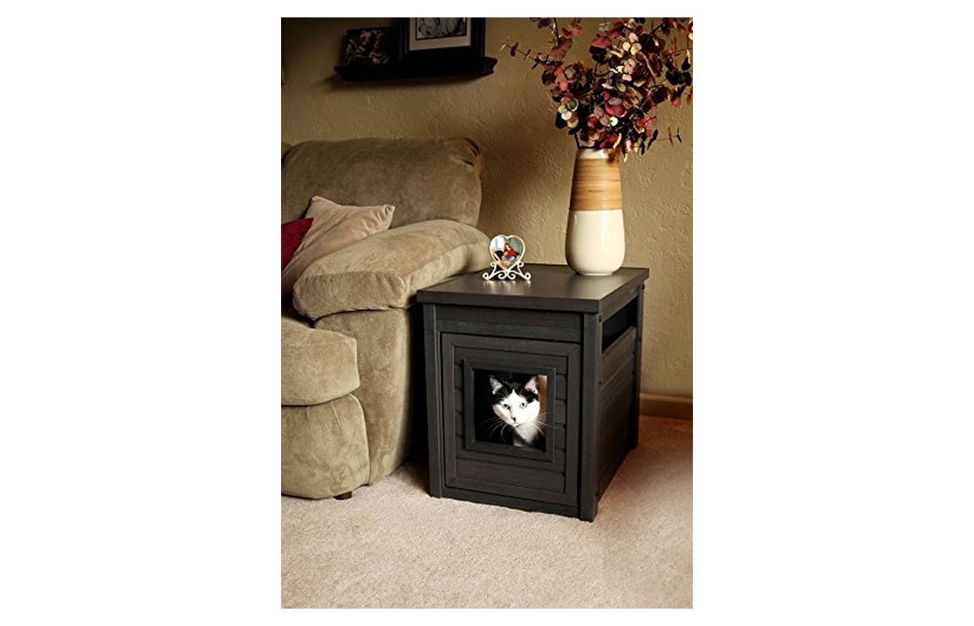 New Age Pet Cat Litter Box Cover End Table