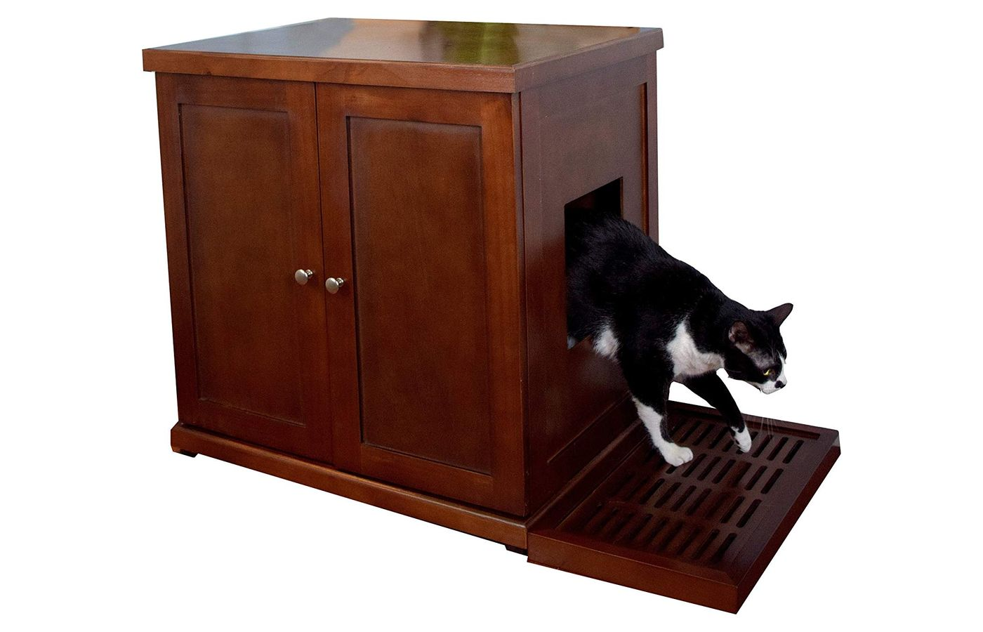 Refined Feline Litter Box Enclosure