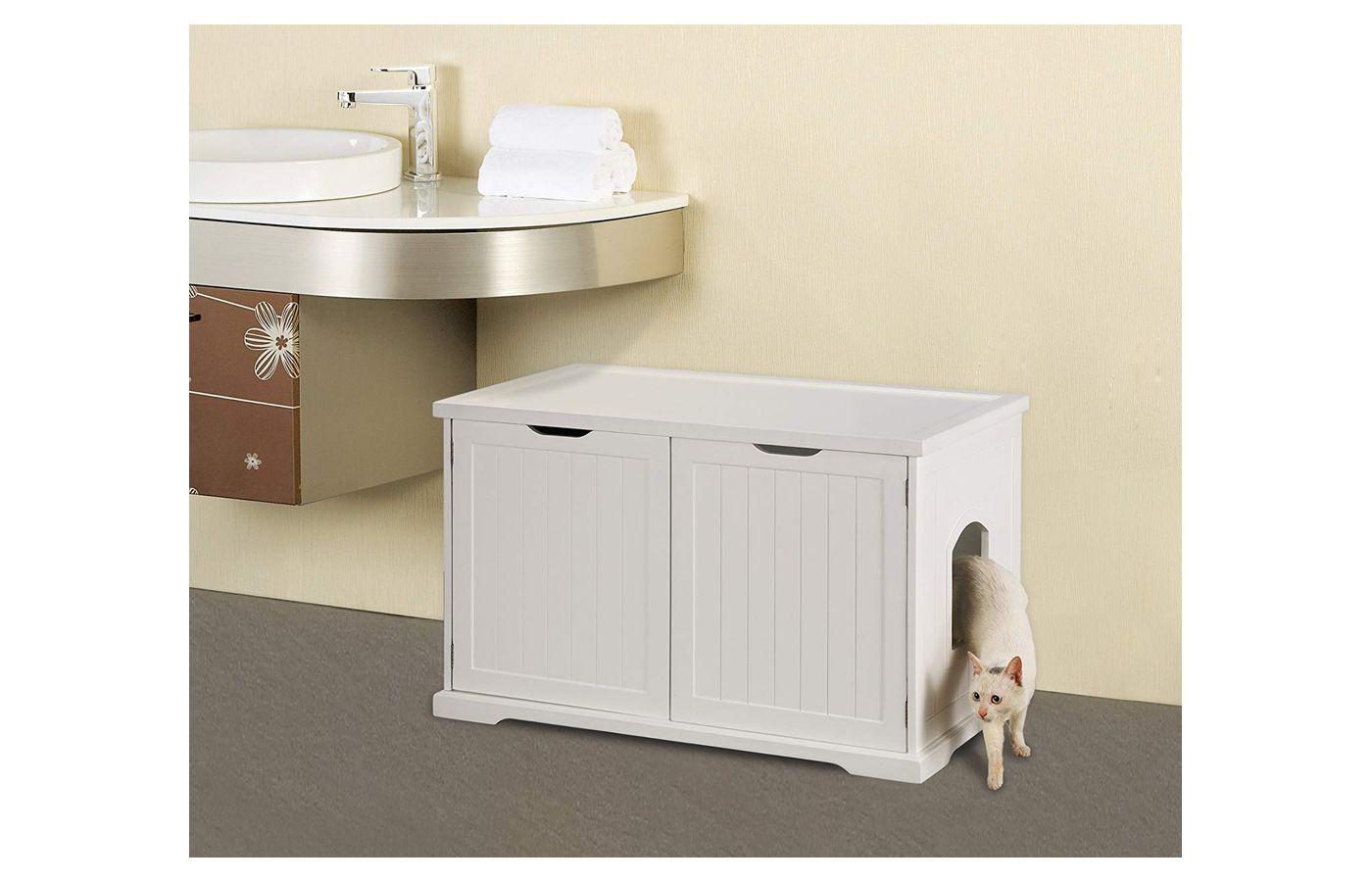 Merry Pet Washroom Bench Litter Box Enclosure