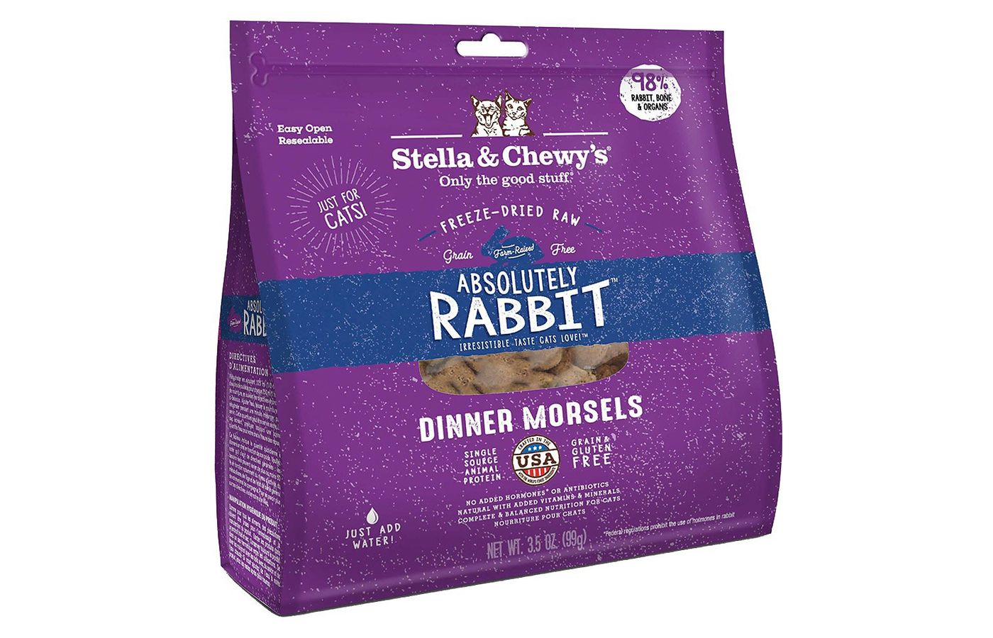 Stella and Chewy's Absolutely Rabbit Dinner Morsels Freeze-Dried Raw Cat Food
