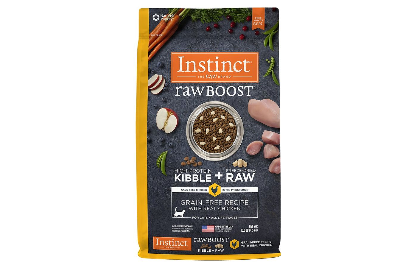Instinct by Nature's Variety Raw Boost Grain-Free Recipe with Real Chicken Dry Cat Food