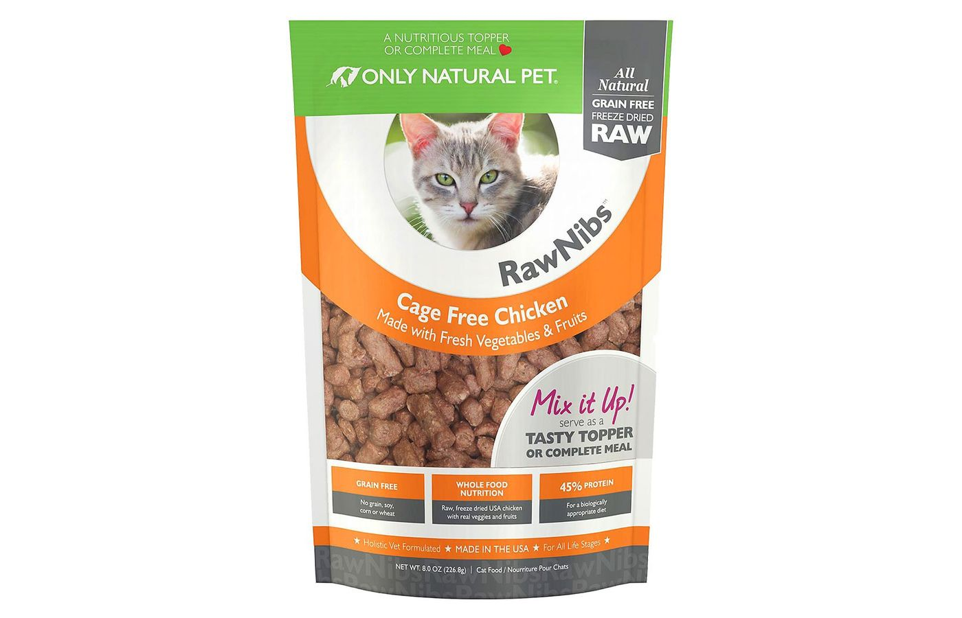 Only Natural Pet Rawnibs Chicken Grain-Free Freeze Dried Cat Food