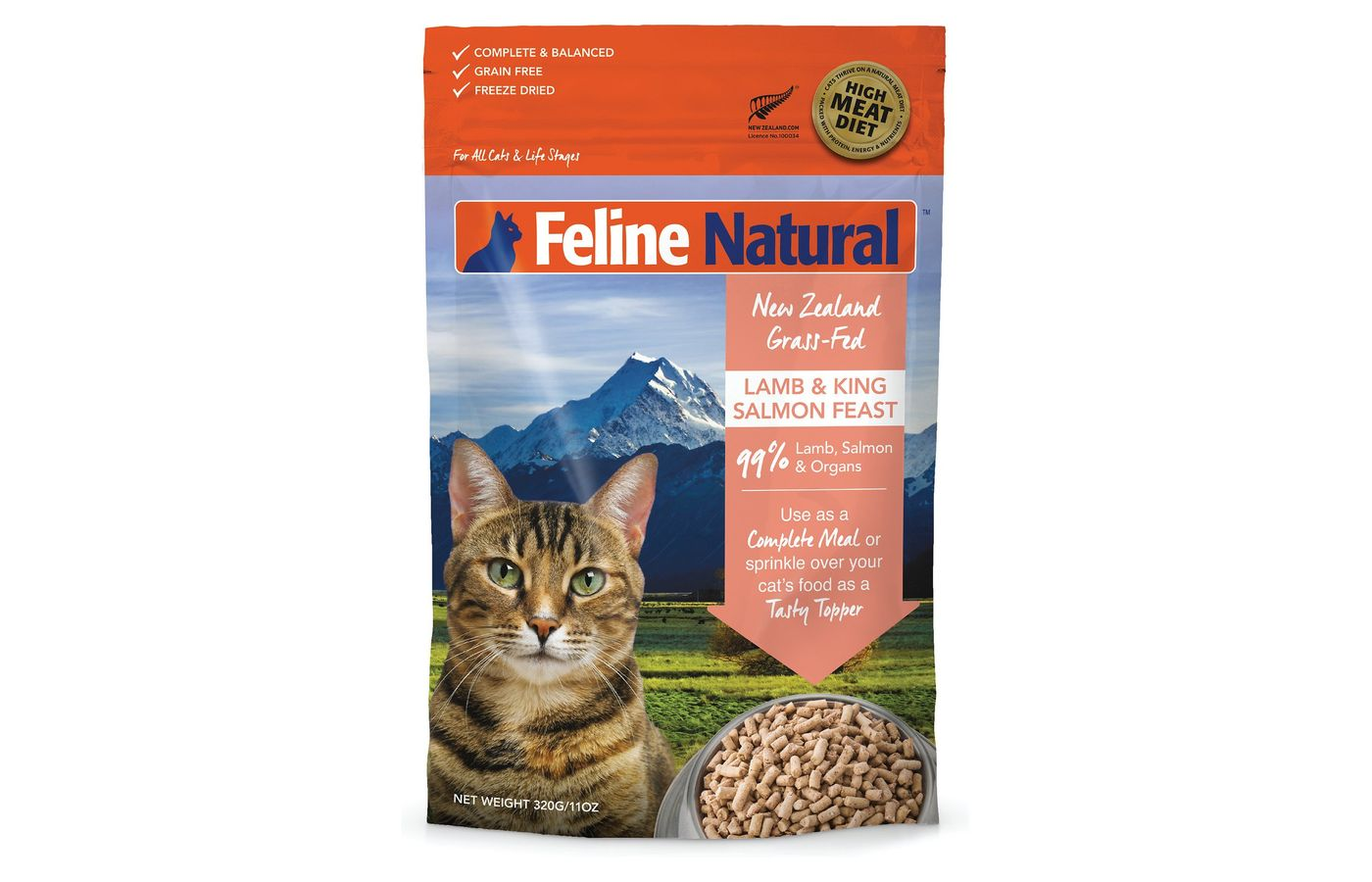 Feline Natural Lamb & Salmon Feast Raw Grain-Free Freeze-Dried Cat Food