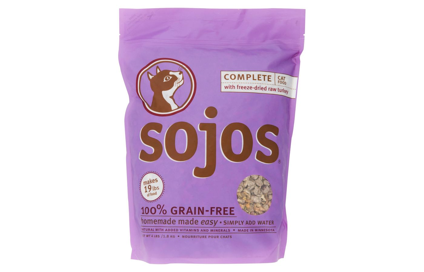 Sojos Complete Turkey Grain-Free Freeze-Dried Cat Food