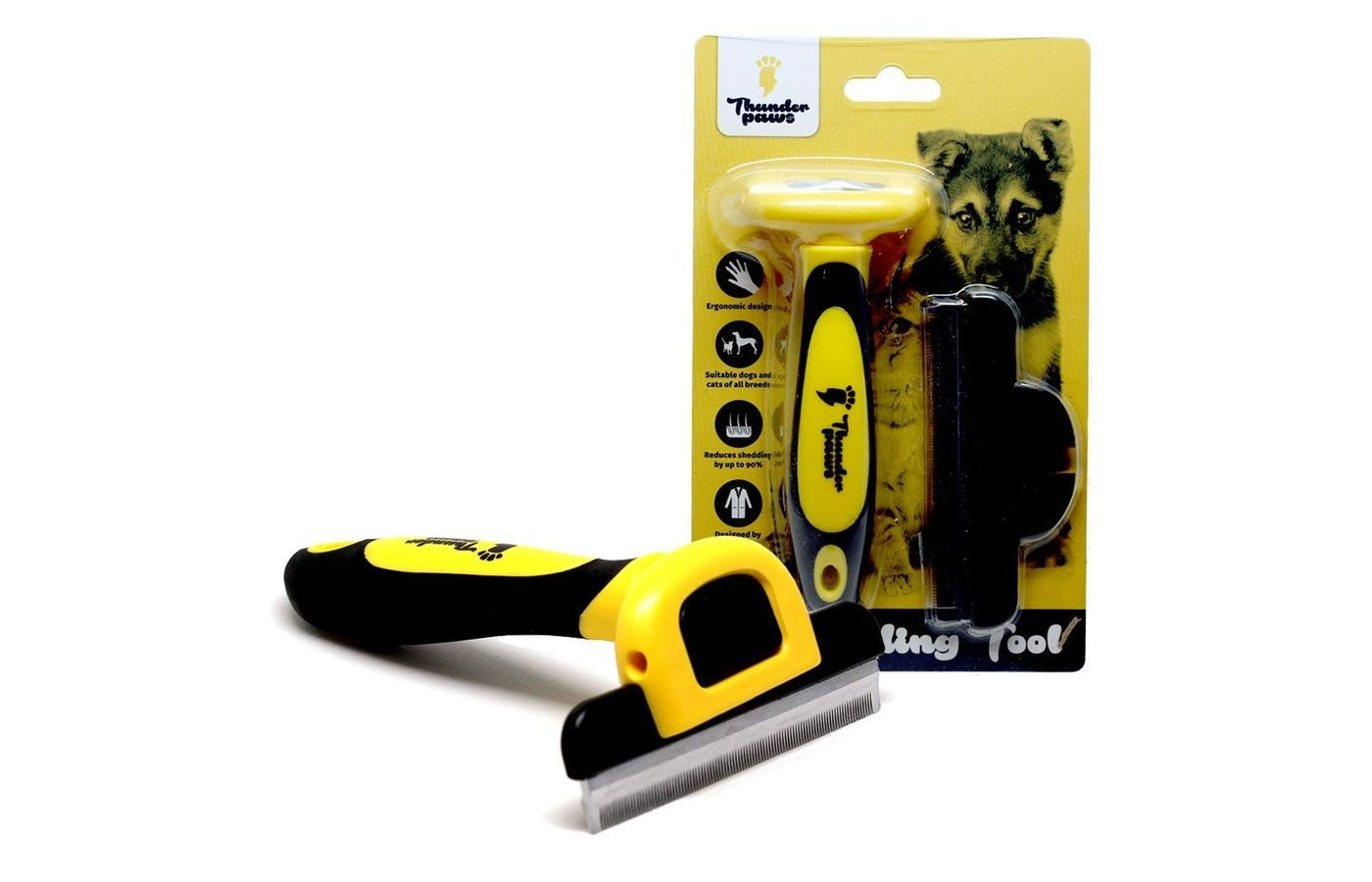 ThunderPaws D-Shedz Best Professional Cat Grooming Brush