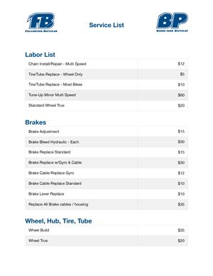View Service List