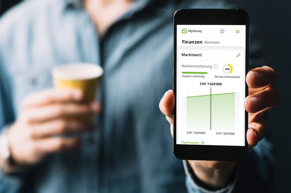 Online Immobilienbewertung auf Smartphone