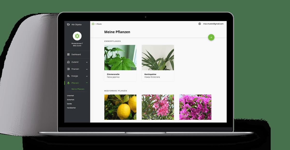 Pflanzenmanager auf Dektop