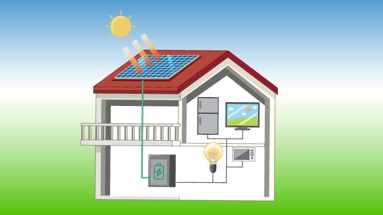 Infografik Solarenergie und Solarstrom-Speicher