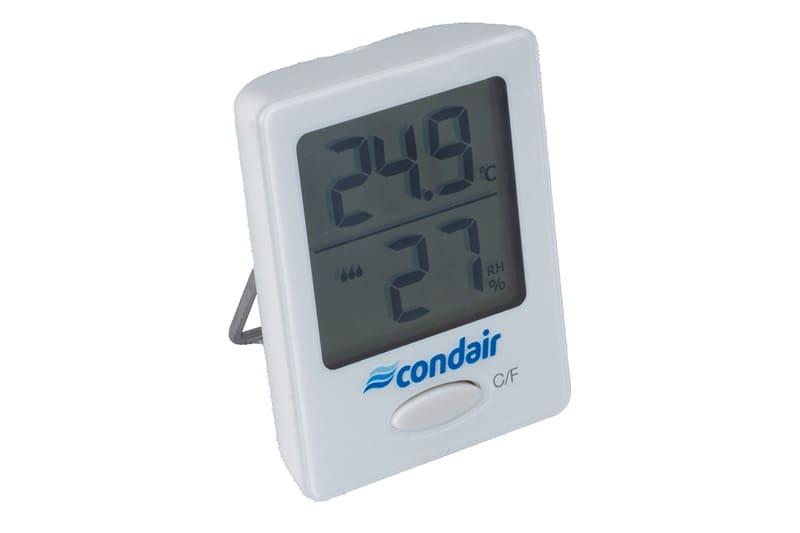 Schimmel: Mit einem Hygrometer messen Sie die relative Luftfeuchtigkeit.