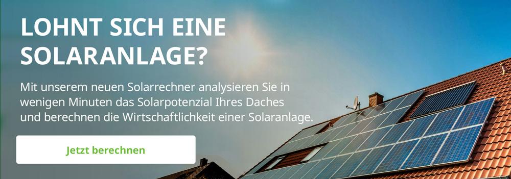 Solarpotential Hausdach - berechnen mit dem Solarrechner